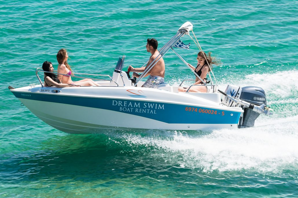 Dream Swim Boat rental - Compass in use