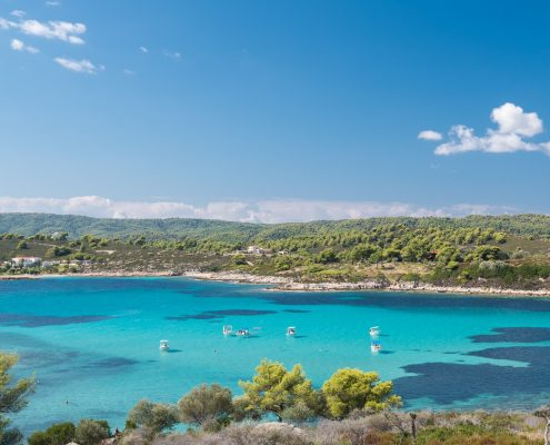 Blue Lagoon - one of the best chalkidiki beaches to visit by boat