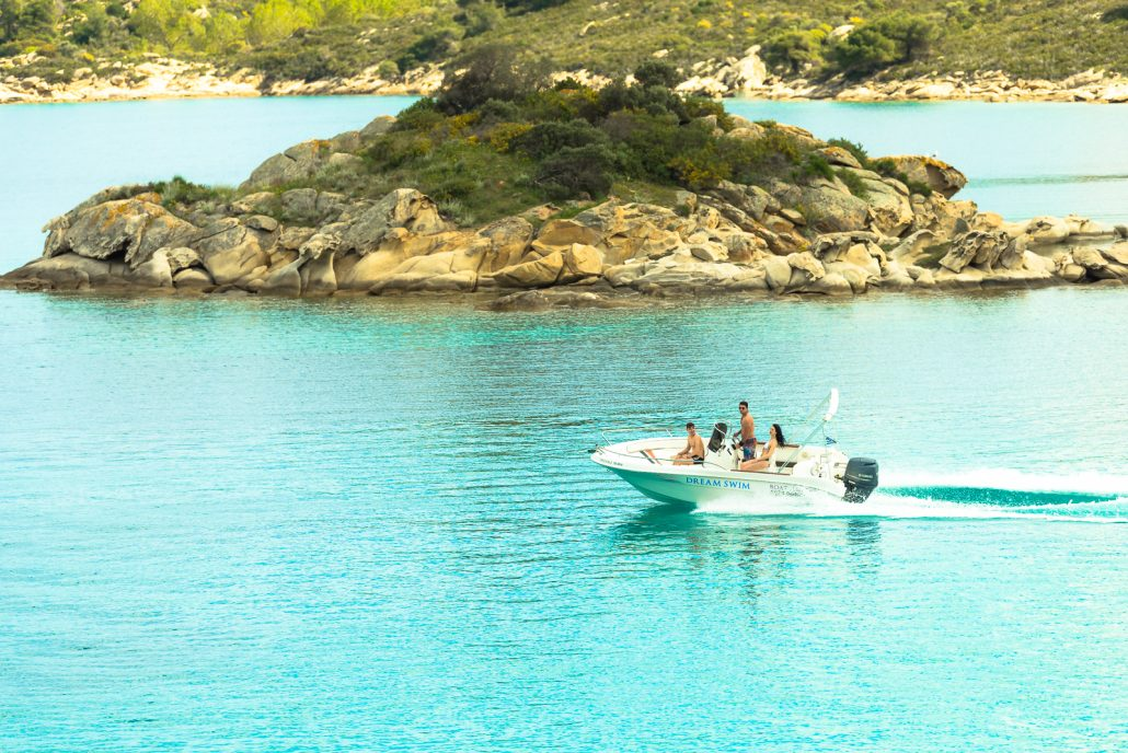 Dream Swim boat rental Halkidiki- Selva 5.60