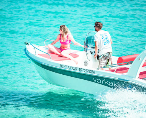Dream Swim rent boats- Open Alexander 4.80 Vourvourou